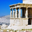 Caryatid Porch of Erechtheum at Acropolis, Athens — ストック写真