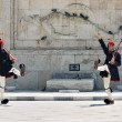 evzones at the monument of unknown soldier in athens — Stock Photo