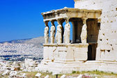 Caryatid Porch of Erechtheum at Acropolis, Athens — Stock Photo