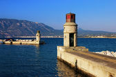 Entrance to the harbor of Corinth — Stock Photo