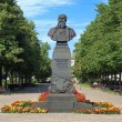Stock Photo: Monument of Russibattle painter Vasily Vereshchagin