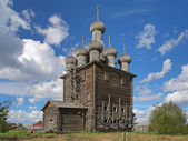 Church of Intercession in the village Rikasovo, Russia — Stockfoto