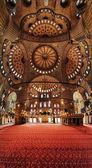 Interieur van de blauwe moskee in istanbul — Stockfoto
