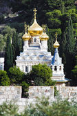 Church of St. Mary Magdalene at Olives Mount of Jerusalem — Stock Photo