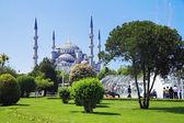 Vue de la mosquée de sultanahmet à istanbul — Photo