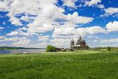 Kościół Przemienienia Pańskiego na wyspie kizhi — Zdjęcie stockowe