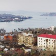 Panorama of Vladivostok and Golden Horn Bay — Stock Photo