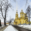 Peter and Paul Cathedral in Peter and Paul Fortress — Stock Photo