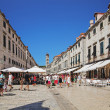 Central street of the Dubrovnik old town — Stock Photo