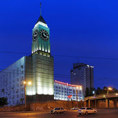 The clock tower in Krasnoyarsk, Russia — Stock Photo