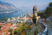 View of the Bay of Kotor, Montenegro — Stock Photo