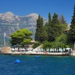 Beach on the coast of Kotor Bay, Montenegro — Stockfoto