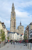 View of the Cathedral of Our Lady in Antwerp, Belgium — Stock Photo
