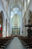 Interior of the Cathedral of Our Lady in Antwerp — 图库照片