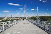 любовник мост в тюмени, россия — Стоковое фото