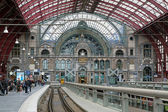 Upper level of the Antwerp Central train station — Stock Photo