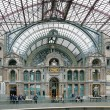 Internal facade of the Antwerp Central train station — Stock Photo