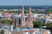 View on Strasbourg with church of St. Paul — Stock Photo