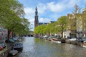 Vista della chiesa occidentale in amsterdam — Photo