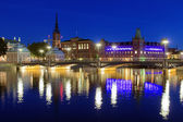 Evening view of Riddarholmen island in Stockholm, Sweden — Stock Photo
