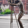 Sculpture of the photographer in Krasnoyarsk — Stock Photo