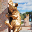 Fragment of Cats monument in Tyumen — Stock Photo #36127869