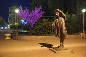 Monument of painter Andrew Pozdeev in Krasnoyarsk, Russia — Stock Photo