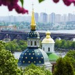 Stock Photo: View of Vydubychi monastery in Kiev, Ukraine