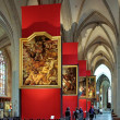 Paintings of Peter Paul Rubens in Antwerp Cathedral — Stock Photo