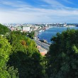 Panorama of the right bank of the Dnieper in Kiev — Stock Photo