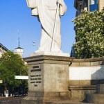 Sculpture of Apostle Andrew in Kiev — Stock Photo