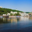 Panorama of the right bank of the Dnieper river in Kiev — Stock Photo #36444711