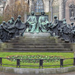 Stock Photo: Hubert and Jan van Eyck Monument in Ghent, Belgium