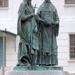 Monument of Saints Cyril and Methodius in Dmitrov, Russia — Stock Photo #37117943