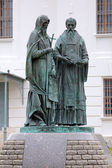Monument of Saints Cyril and Methodius in Dmitrov, Russia — Stok fotoğraf