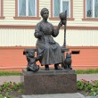 Monument of Russian wives, keepers of hearth and home, in Arkhangelsk — Stock Photo