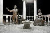 Monument of Alexander Pushkin and his wife n Krasnoyarsk — Stock Photo