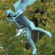 Angel Musician in Millesgarden sculpture garden in Stockholm — Stock Photo