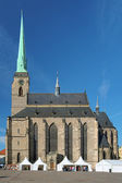 Cathedral of St. Bartholomew in Plzen, Czech Republic — Stock Photo
