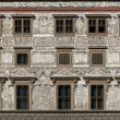 Sgraffito wall decor on the Town Hall in Plzen, Czech Republic — Stock Photo