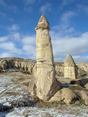 Stone columns in Gorcelid Valley in Cappadocia, Turkey — Stockfoto
