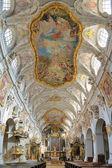 Interior of St. Emmeram's Basilica in Regensburg, Germany — Stock Photo