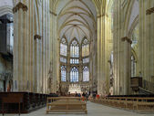 Interior of Regensburg Cathedral, Germany — Stok fotoğraf