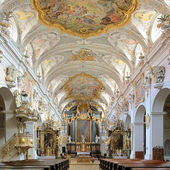 Interior of St. Emmeram's Basilica in Regensburg, Germany — Stock Photo