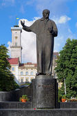 Monument of Taras Shevchenko in Lviv, Ukraine — Foto Stock