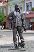 Monument of the Happy Chimney Sweeper in Mukacheve, Ukraine — ストック写真