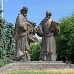 Monument of Saints Cyril and Methodius in Mukacheve, Ukraine — Stock Photo #42811355