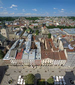 View of Lviv from the tower of Lviv City Hall — Стоковое фото