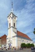 Reformed church of Holy Trinity in Mukacheve, Ukraine — Stock Photo