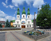 Theotokos of Pochayiv Cathedral in Mukacheve, Transcarpathia, Ukraine — Stock Photo